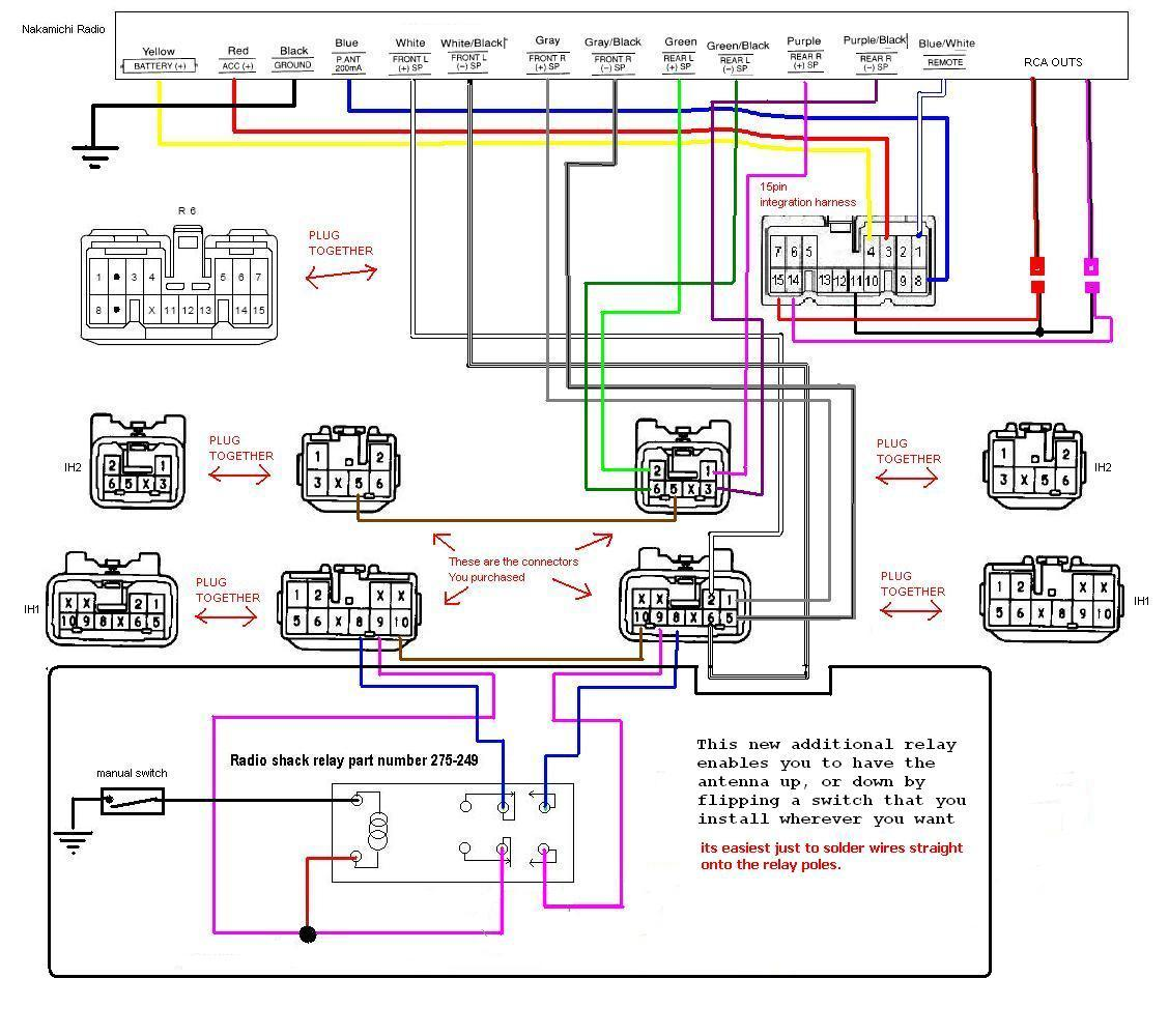 Antenna Relay diagram upgraded audio system using stock components [archive  at gsmportal.co