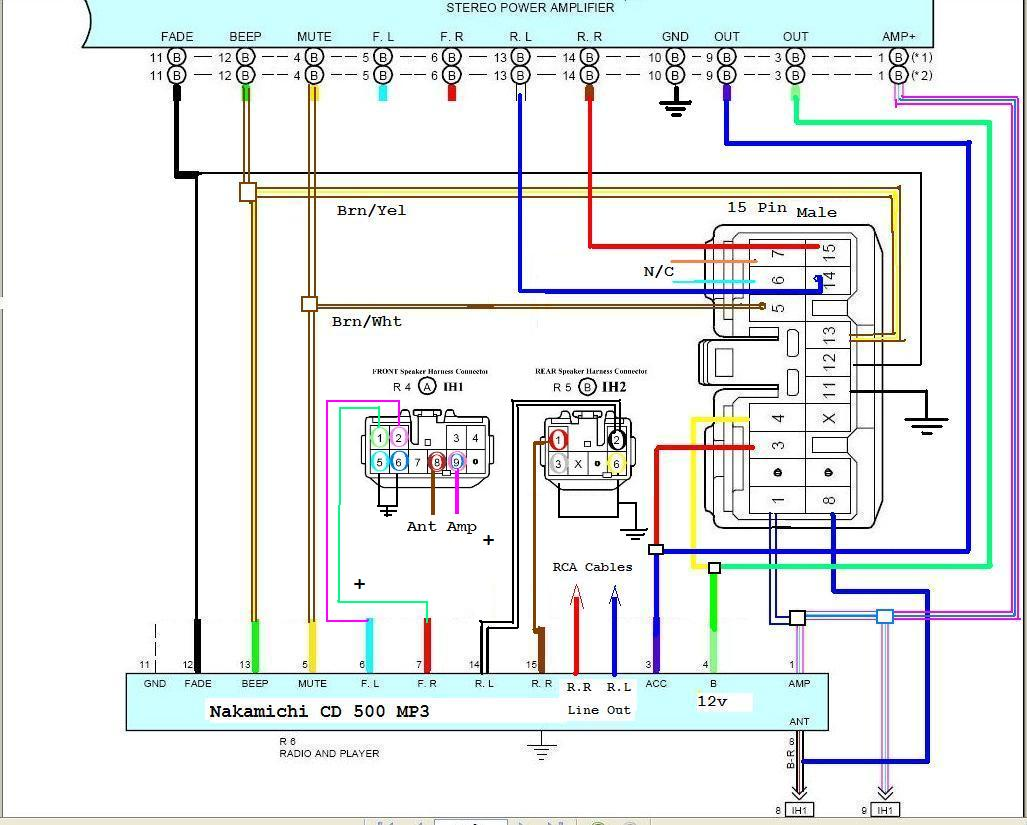 Wiring diagram for car stereo